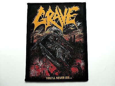 Grave   Woven  Patch