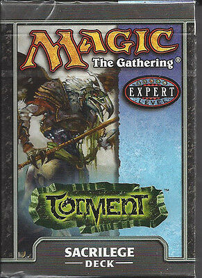 Magic The Gathering Torment Theme Deck Sacrilege New & Factory Sealed