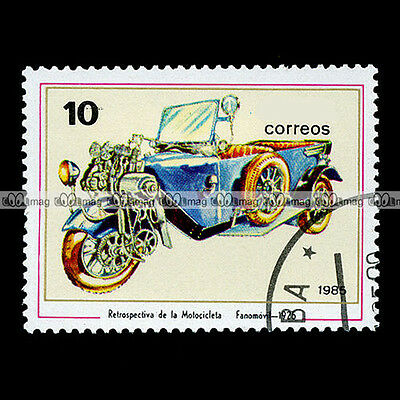 ★ FANOMOVIL CYCLECAR 1925 ★ Timbre Poste Moto / Classic Motorcycle Stamp #96