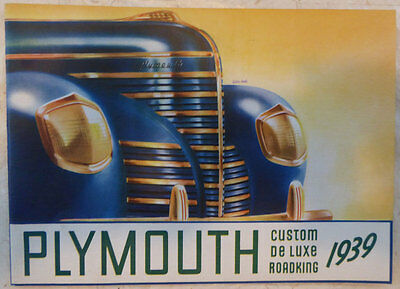 1939 Plymouth Canadian 28 Page Brochure Shows 20 Models Near Mint