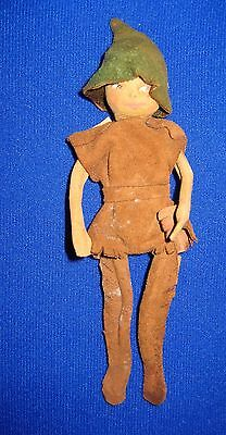 "Vintage Elf from Ambleside, England--6""--Made of Suede Leather & Wire"