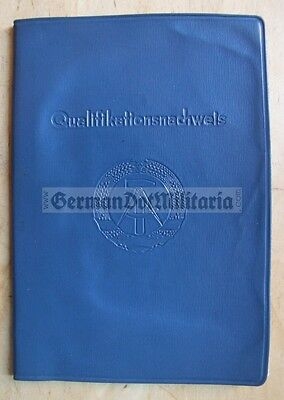 pc89) c1964 East German professional qualifications record book GDR DDR Cold War