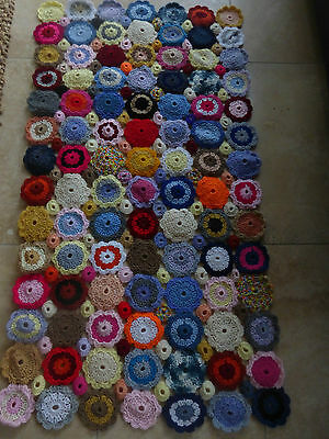 New vintage style, granny crochet blanket, very colourful, each throw is unique.