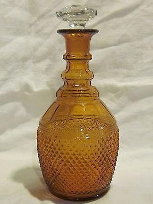 Cambridge Mt. Vernon Amber Decanter Set