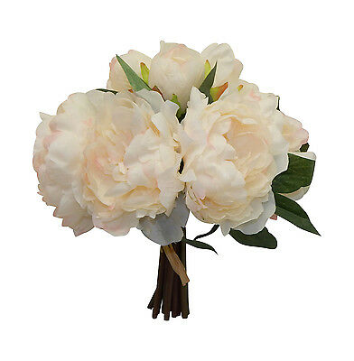 CHAMPAGNE BEIGE Roses Peonies ~ Bouquet Bridal Silk Wedding Flowers Centerpieces