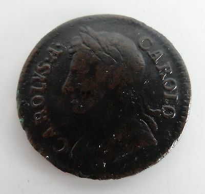 c-1672 CHARLES II Farthing Coin
