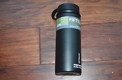 New FIFTY/FIFTY Vacuum Insulated Double Wall Bottle 18oz Black Sports 50/50
