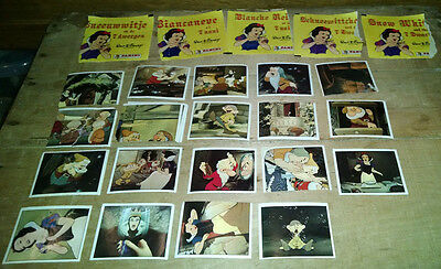 Lot of 21 Panini Disney SNOW WHITE Image Picture Stickers - Vintage 1980s