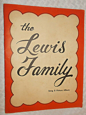 LEWIS FAMILY Song Picture Album w/ Roy, Wallace, bluegrass country gospel music