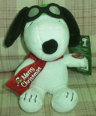 """Peanuts A Charlie Brown Christmas 10"""" Plush Musical Red Baron Snoopy Doll New"""