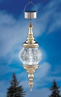 Solar Powered Lighted Mercury Glass Outdoor Christmas Ornament