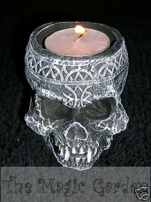 Skull candle tealight holder cement plaster craft latex molds moulds