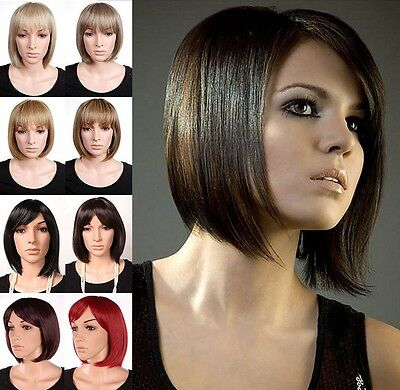 Fashion Ladies Women Short Straight Bob Full Wig Wonderful Synthetic New Wigs SA