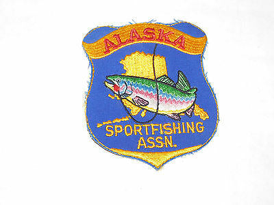 Vintage Early Alaska Sportfishing Assn. Embroidered Patch