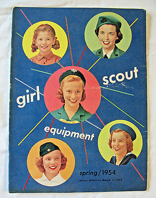 CATALOG, FALL 1953 Girl Scout Uniforms Equipment Jewelry Badges Dolls Combin Shp