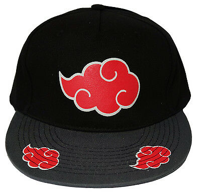 Naruto Shippuden Akatsuki Clouds Adjustable Cap Hat New Tag Official Licensed