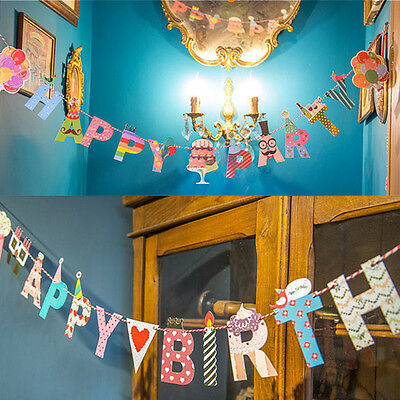 Happy Birthday & Party Cute Garland Design Christmas Home Party Bunting Banners
