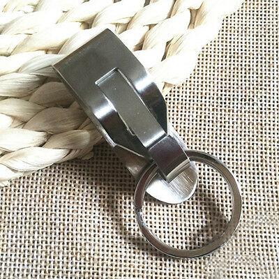 Stainless steel Quick release Keychain Belt Clip key ring snap holder Key Hanger