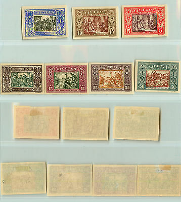 Lithuania, 1932, SC 264-268, 270, 271, mint, imperf. rta852