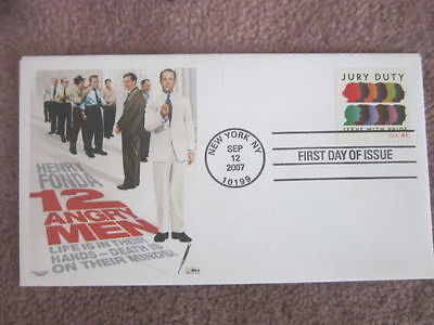 Henry Fonda 12 Angry Men Jury Duty 2007 Rare Cachet Fdc Only 5 Covers Made