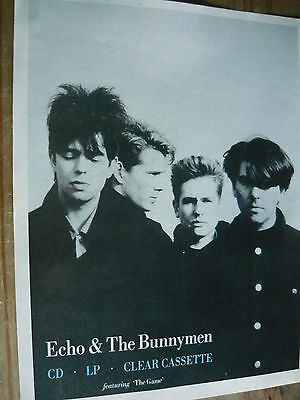 Echo & The Bunnymen - Magazine Cutting (Full Page Advert) (Ref S8)