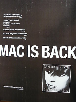 IAN McCULLOCH - MAGAZINE CUTTING (FULL PAGE ADVERT) (REF SF)