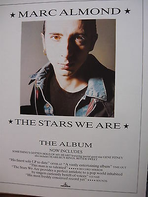 Marc Almond - Magazine Cutting (Full Page Advert) (Ref Sc)