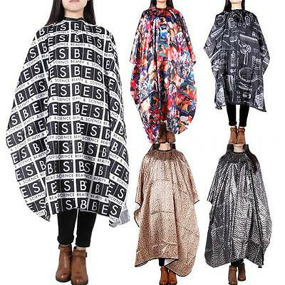 Pro Hairdressing Gown Cape Hair Styling Cut Salon Barber Cloth Wrap Protect K1L6