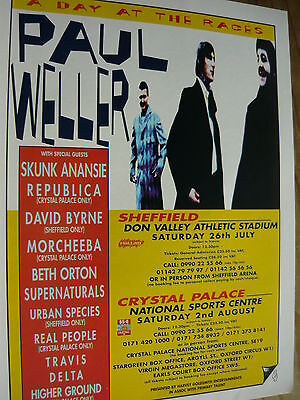 Paul Weller - Magazine Cutting (Full Page Advert) (Ref Sn)