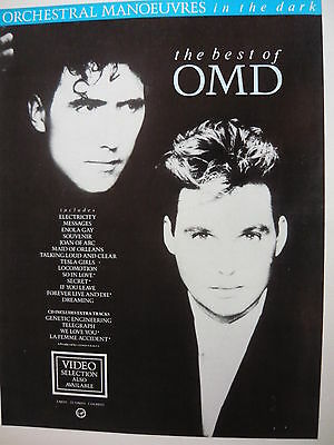 Omd - Magazine Cutting (Full Page Advert) (Ref Sc)