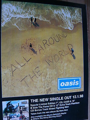 Oasis - Magazine Cutting (Full Page Advert) (Ref Sn)