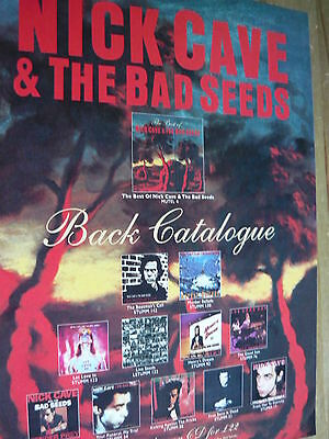 Nick Cave - Magazine Cutting (Full Page Advert) (Ref T17)