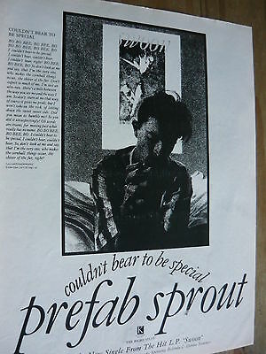 Prefab Sprout - Magazine Cutting (Full Page Advert) (Ref T11)