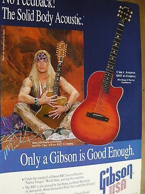 Poison (Bret Michaels) - Magazine Cutting (Full Page Advert) (Ref Xi)
