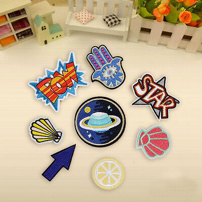 8Pcs Embroidery Boom Cute Applique Sew Iron On Patch Badge Bag Clothes Fabric