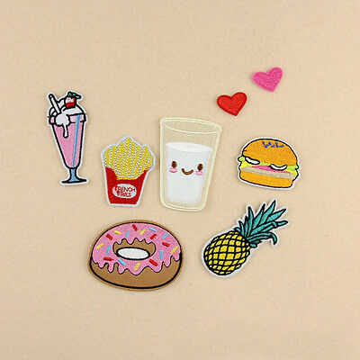 8Pcs Fruit Pattern Embroidery Sew Iron On Patch Badge Bag Cloth Fabric Applique
