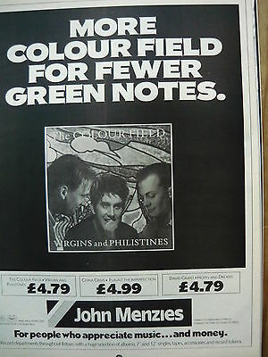 The Colour Field - Magazine Cutting (Full Page Advert) (Ref J2)
