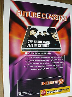 The Charlatans - Magazine Cutting (Full Page Advert) (Ref T13)