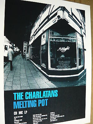 The Charlatans - Magazine Cutting (Full Page Advert) (Ref T13B)