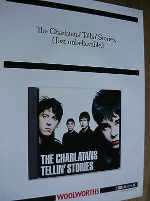 The Charlatans - Magazine Cutting (Full Page Advert (Ref Sl)