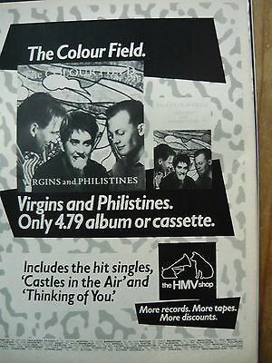 The Colour Field - Magazine Cutting (Full Page Advert) (Ref J1)