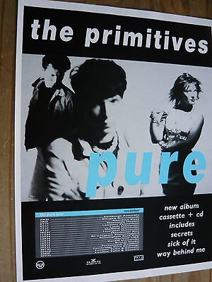 The Primitives - Magazine Cutting (Full Page Advert) (Ref Sn)