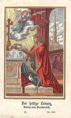 """OLD nice rare german Holy cards from 1900 """"H7641"""" holy ludwig"""