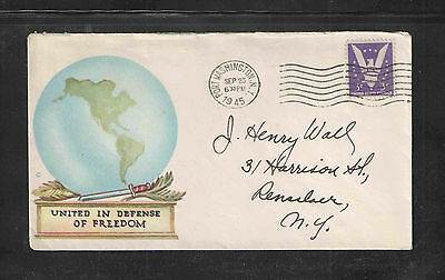 1945 United In Defense Of Freedom Cover