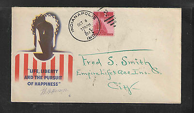 1943 Life Liberty And The Pursuit Of Happiness Us Ww Ii Patriotic Cover Brown