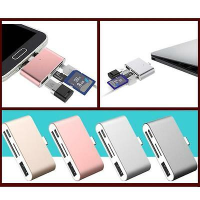 4in1 Type C to Micro USB OTG TF SD Card Reader Adapter For Huawei,Macbook,Letv