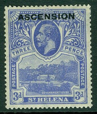 SG 5 ascension 3d Bright blue unmounted mint CAT £13