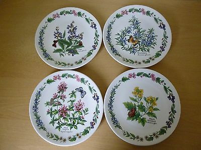 4 Royal Worcester Herbs Limited Edition Wall Plates - Unusual
