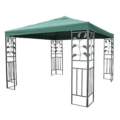 Outsunny 10 x 10ft Patio Party Gazebo Canopy Tent Top Cover Steel Frame Decor