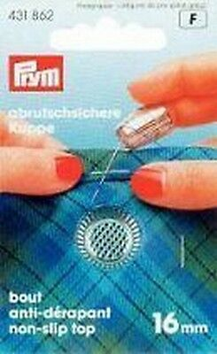 PRYM Thimble 16mm Zinc die-casting chromated; with Anti-slip - edge 431862